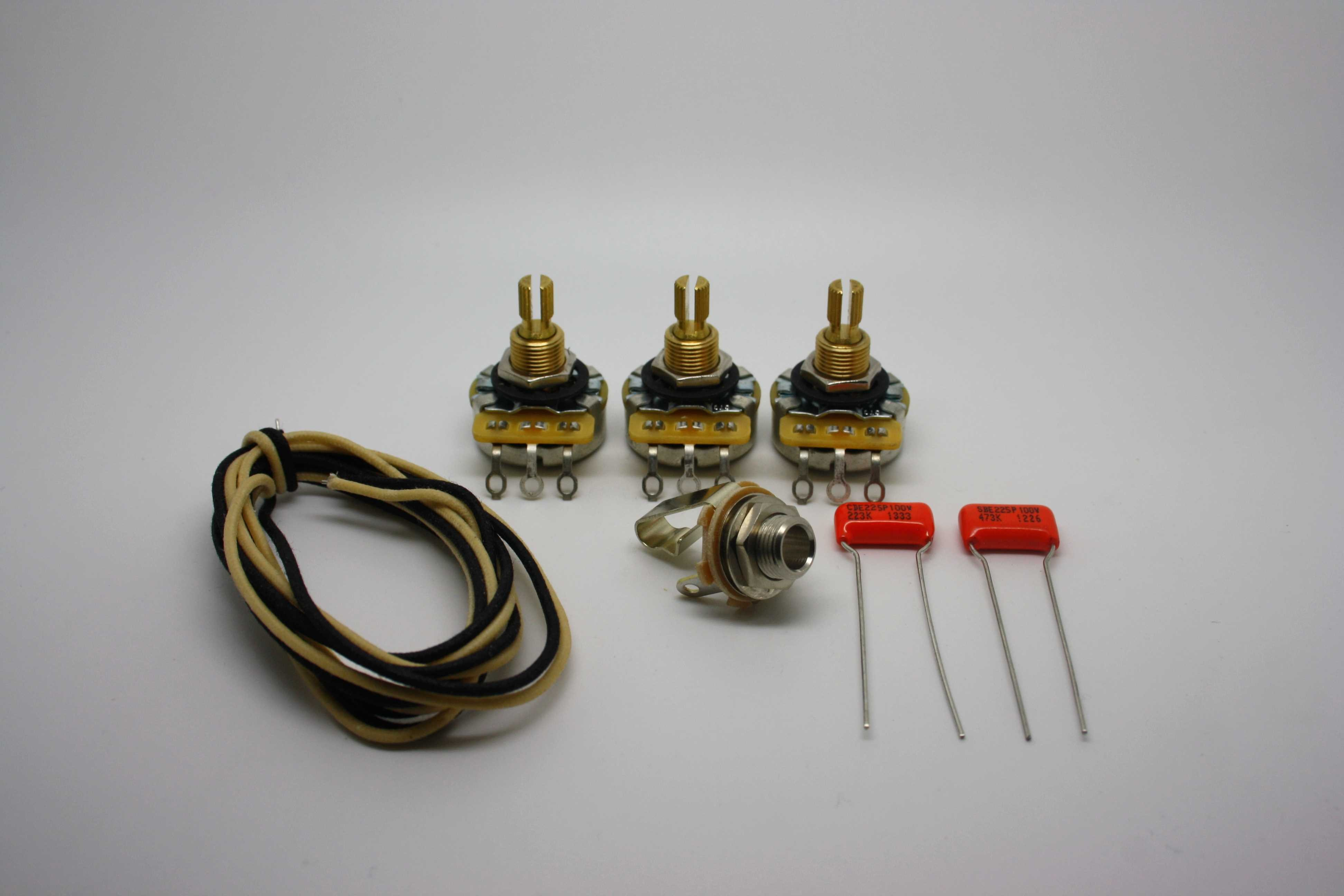 WIRING SUPER KIT FOR FENDER JAZZ B AND OTHER J-B STYLE B GUITAR BAJO on