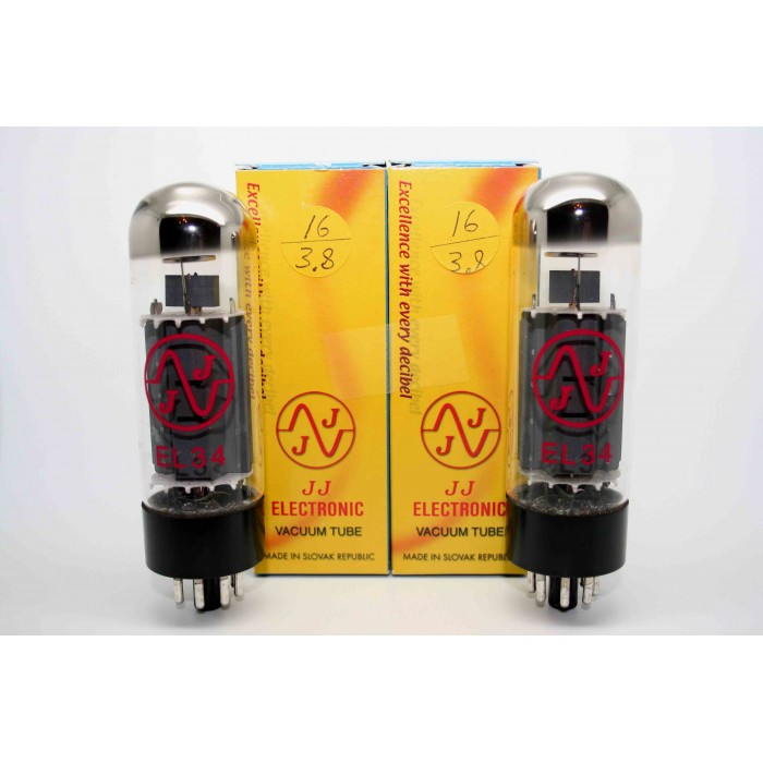 NEW MATCHED PAIR JJ ELECTRONICS EL34 VACUUM TUBE AMP - VALVULA DE VACIO