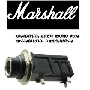 "ORIGINAL MARSHALL 1/4"" 6.35mm MONO INPUT JACK PC MOUNT TUBE AMP AMPLIFIER"