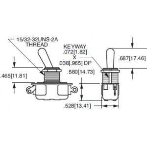 CARLING SPDT TOGGLE SWITCH...