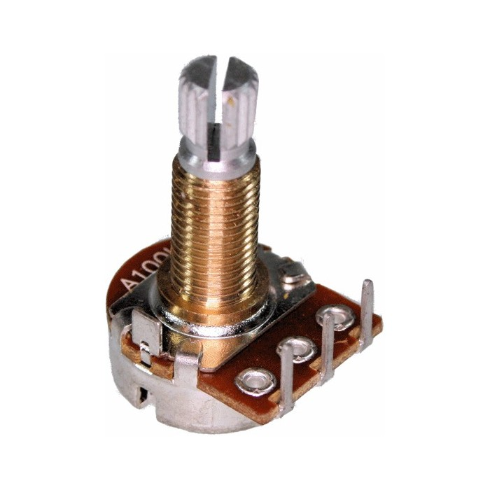 POTENTIOMETER 100K AUDIO 16mm FOR PRO CO RAT EFFECT PEDALS - POTENCIOMETRO