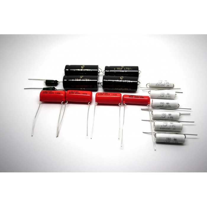CAPACITOR KIT FOR FENDER PRO-AMP 5C5 MODEL TUBE AMP - AMPLIFIER - AMPLIFICADOR