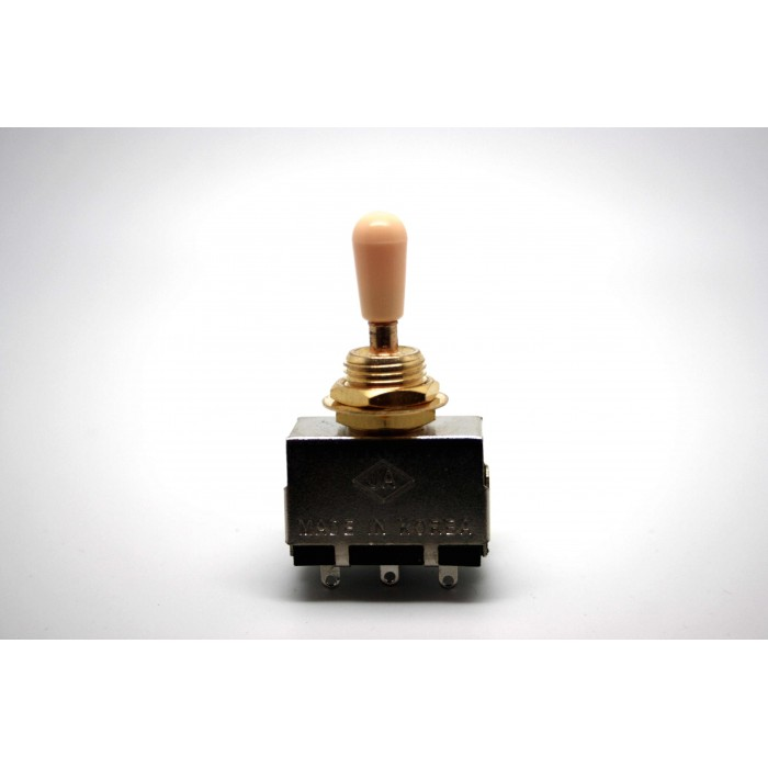 JA GOLD 3 WAY TOGGLE SWITCH BOX BLACK TIP FOR GIBSON EPIPHONE LES PAUL AND SG TYPE
