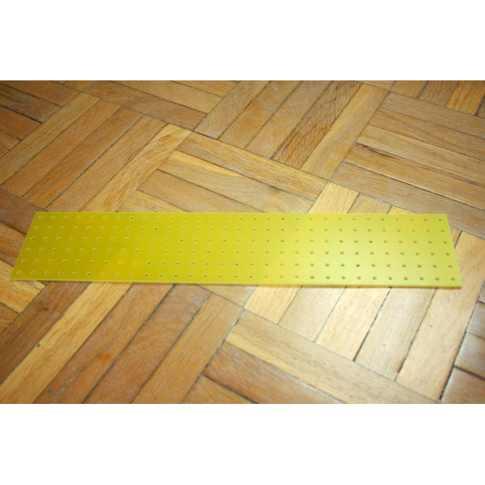 YELLOW TURRET BOARD 300mm x 60mm 180 HOLES OF 2mm FOR TUBE AUDIO PROJECTS