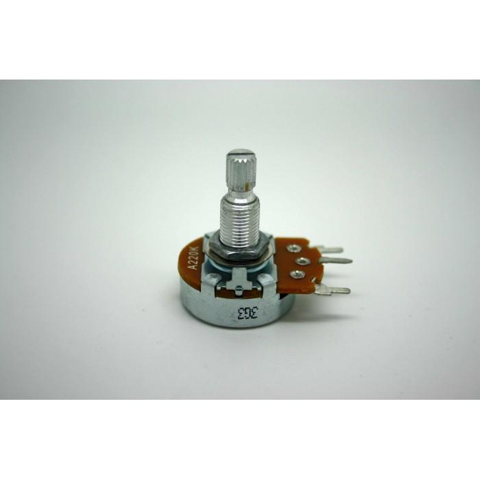 ALPHA POTENTIOMETER 220K 24mm AUDIO LOG ORIGINAL FOR MARSHALL AMPLIFIER PC MOUNT