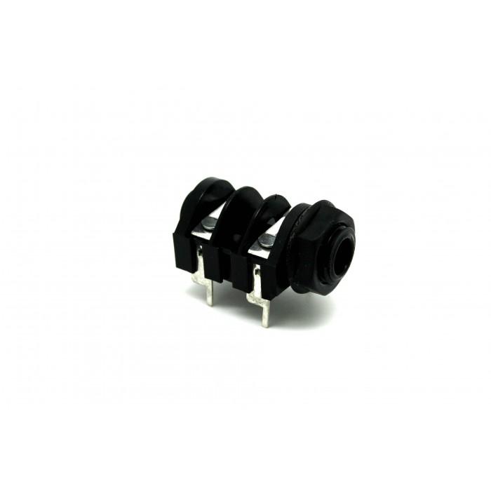 "GENUINE JACK CLIFF UK MONO SWITCHED 1/4"" 6.35mm PC MOUNT PLASTIC L-LEG"