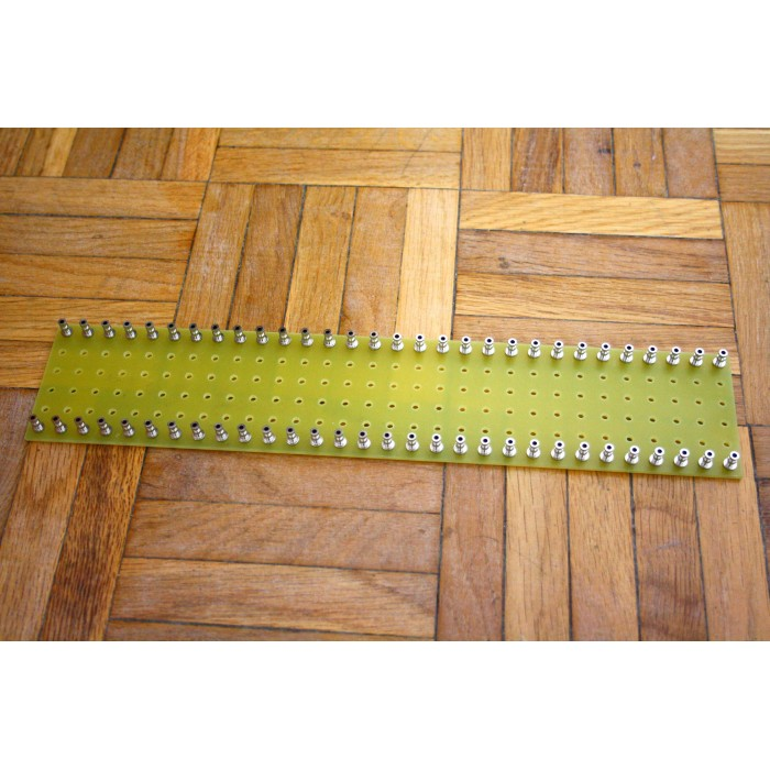 YELLOW TURRET BOARD 300mm x 60mm LOADED WITH 60 TURRETS FOR TUBE AUDIO PROJECTS