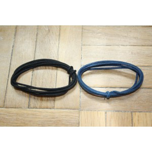 2 Mt GUITAR ELECTRIC 22 AWG VINTAGE CLOTH COVERED WIRE BLUE & BLACK - CABLE INTERNO PARA GUITARRA