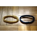 2 Mt GUITAR ELECTRIC WHITE & BLUE 22 AWG VINTAGE CLOTH COVERED WIRE - CABLE INTERNO PARA CABLEAR GUITARRA