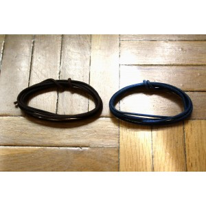 2 Mt GUITAR ELECTRIC BROWN & BLUE 22 AWG VINTAGE CLOTH COVERED WIRE