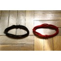 2 Mt GUITAR ELECTRIC BROWN & RED 22 AWG VINTAGE CLOTH COVERED WIRE - CABLE PARA CABLEAR POR DENTRO LA GUITARRA