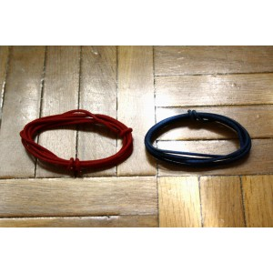 2 Mt GUITAR ELECTRIC RED & BLUE 22 AWG VINTAGE CLOTH COVERED WIRE