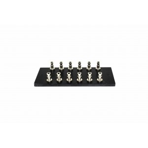 BLACK TURRET BOARD 77mm x 32mm LOADED WITH 12 TURRETS FOR TUBE AUDIO PROJECTS