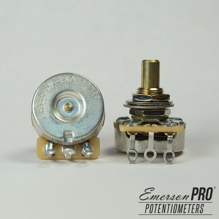 EMERSON PRO CTS 500K 8% TOLERANCE AUDIO TAPER SOLID SHAFT POTENTIOMETER