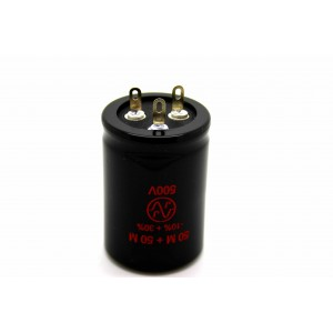 JJ 50uF/50uf 500V CAPACITOR FOR AMPLIFIER FENDER MARSHALL VOX HIWATT TUBE AMP