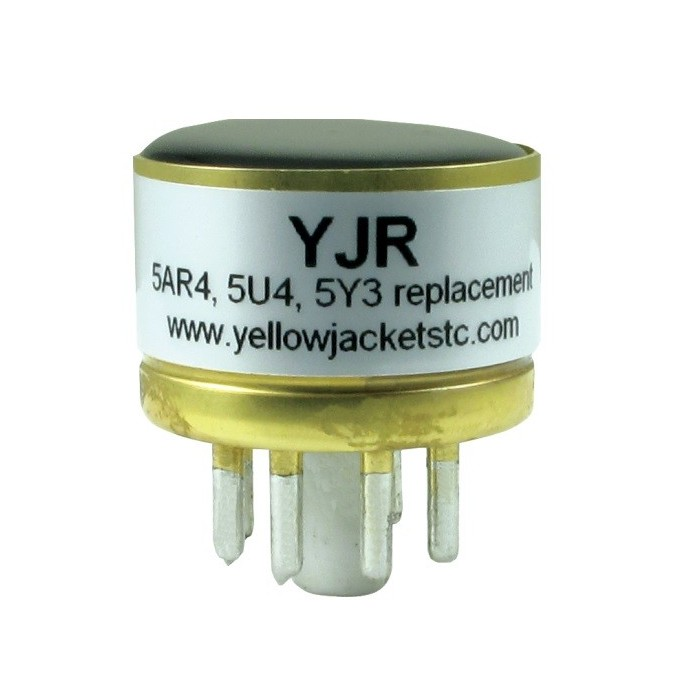 YELLOW JACKET YJR SOLID STATE REPLACEMENT FOR 5Y3 5U4 5AR4 GZ34 TUBE RECTIFIER