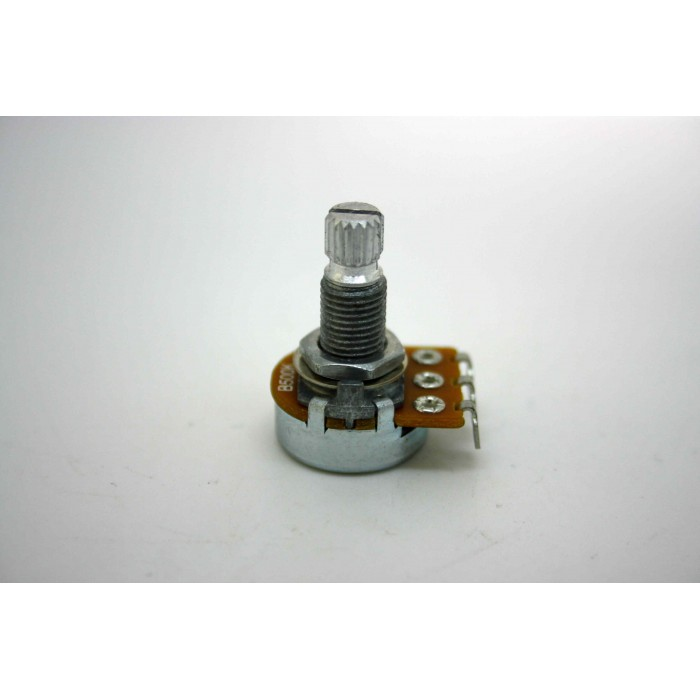 MINI POTENTIOMETER ALPHA B500K 500K LINEAR KNURLED SHAFT FOR GUITAR OR BASS