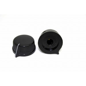 1x GENUINE DAVIES MOLDING 1470AQ BLACK KNOB FOR BIG MUFF - DAKAWARE USA