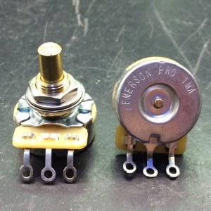 EMERSON PRO CTS 1 MEG 1M 8% TOLERANCE AUDIO TAPER SOLID SHAFT POTENTIOMETER
