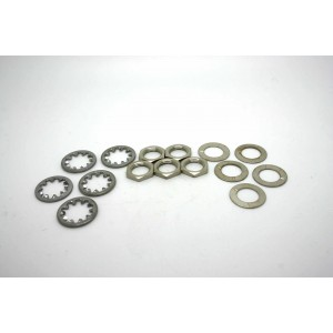 5x LOCKWASHER WASHERS AND NUTS FOR SWITCHCRAFT AMERICAN JACKS POTENTIOMETERS