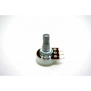 MINI POTENTIOMETER ALPHA W20K WITH CENTER DETENT LOG - ANTILOG 16mm