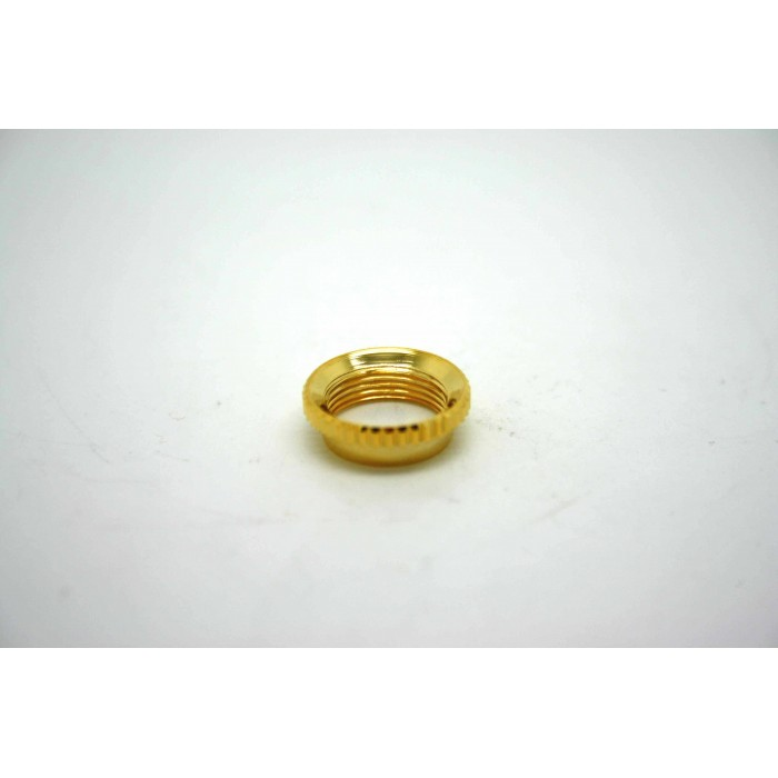 GOLD DEEP THREAD ROUND NUT FOR 3 WAY TOGGLE SWITCH SWITCHCRAFT - VINTAGE STYLE