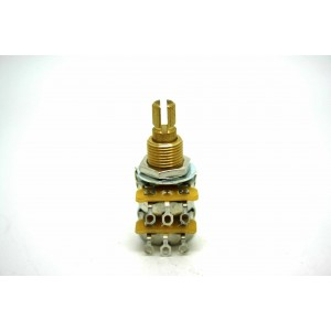 CTS DUAL 250K BLEND-BALANCE AUDIO TAPER POTENTIOMETER WITH CE NTE R DETENT