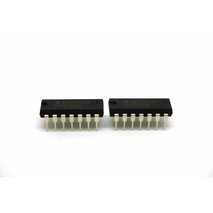 2x ECHTE TEXAS-INSTRUMENTE CD40106BE CMOS HEX INVERTER SCHMITT TRIGGER