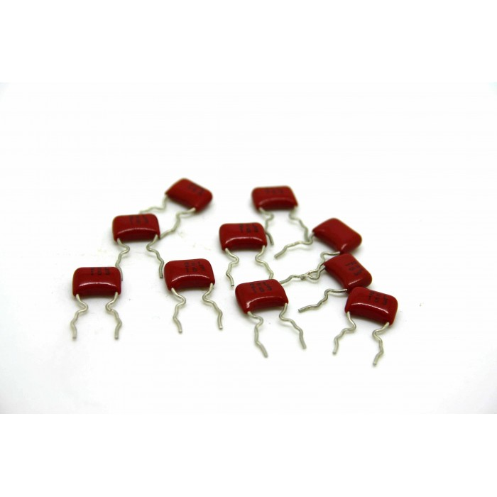 10x PANASONIC ECQ-V 0.015uF 50V CAPACITOR FOR BOSS IBANEZ MXR RAT DOD KEELEY MOD