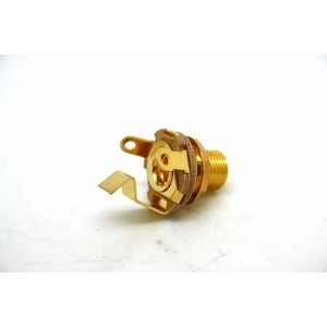 SWITCHCRAFT 6.35mm GOLD JACK LONG THREAD, SHORT GROUND FOR OLD GIBSON SG 60's