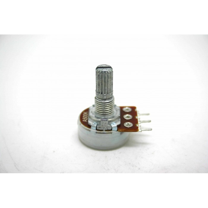 MINI POTENTIOMETER ALPHA A500K 500K 16mm AUDIO LOGARITHMIC PC MOUNT