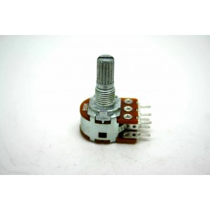 MINI DUAL POTENTIOMETER ALPHA B50K 50K 16mm LINEARE PC-MONTAGE