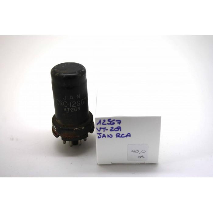 JAN RCA 12SG7 VT209 CV694 VACUUM TUBE WITH EXTERNAL OXIDE HICKOK TV-7D/U TEST