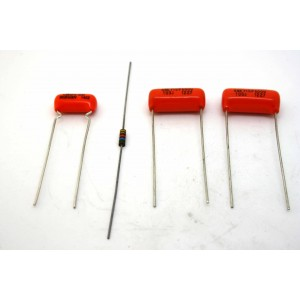 FENDER JAGUAR CAPACITORS & RESISTOR KIT - SPRAGUE ORANGE DROP + ALLEN BRADLEY