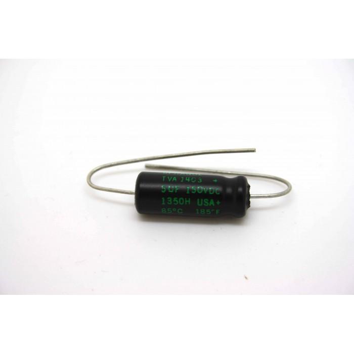 SPRAGUE ATOM 5uF 150V CAPACITOR FOR VINTAGE FENDER AMPEG AMPLIFIER TUBE AMP