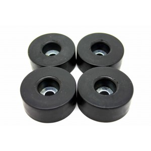 4x RUBBER FOOT FEET 38mm X 15 mm x 6.5 mm WITH SCREWS
