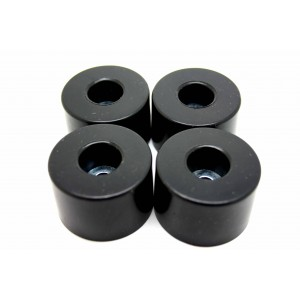 4x RUBBER FOOT FEET 38mm X 25 mm x 6.5 mm WITH SCREWS