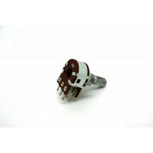 MINI DUAL POTENTIOMETER ALPHA A5K 5K 16mm LOGARITHMIC PC MOUNT