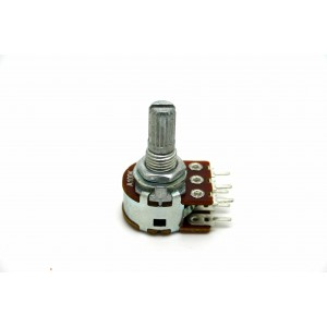 MINI DUAL POTENTIOMETER ALPHA A100K 100K 16mm LOGARITHMISCHE PC-MONTAGE