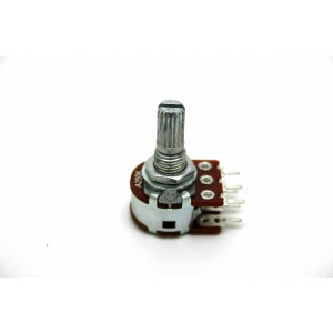 MINI DUAL POTENTIOMETER ALPHA A250K 250K 16mm LOGARITHMIC PC MOUNT