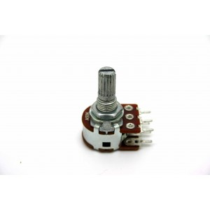 MINI DUAL POTENTIOMETER ALPHA A50K 50K 16mm LOGARITHMISCHE PC-MONTAGE