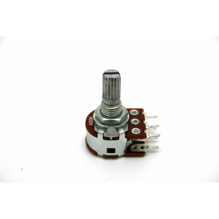 MINI DUAL POTENTIOMETER ALPHA A50K 50K 16mm LOGARITHMIC PC MOUNT