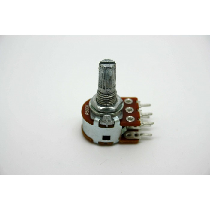 MINI DUAL POTENTIOMETER ALPHA A500K 500K 16mm LOGARITHMIC PC MOUNT