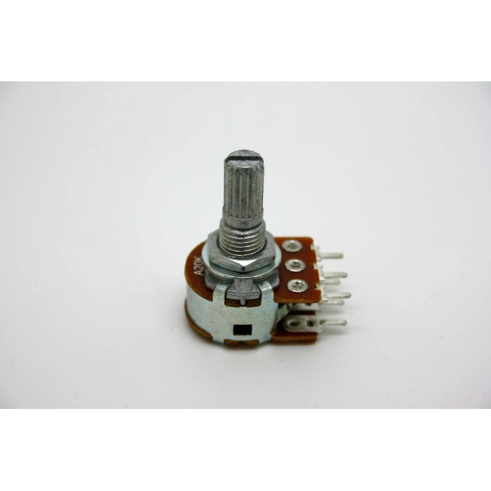 MINI DUAL POTENTIOMETER ALPHA A20K 20K 16mm LOGARITHMIC PC MOUNT