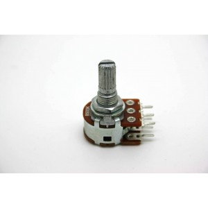 MINI DUAL POTENTIOMETER ALPHA B500K 500K 16mm LINEAR PC MOUNT