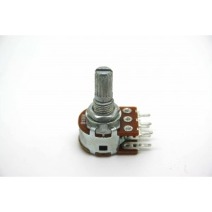 MINI DUAL POTENTIOMETER ALPHA B100K 100K 16mm LINEAR PC MOUNT