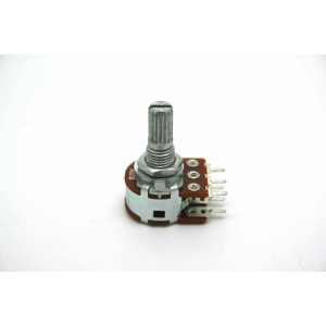 MINI DUAL POTENTIOMETER ALPHA B20K 20K 16mm LINEAR PC MOUNT