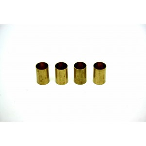 4X PACK BRASS ADAPTER BUSHINGS POTENTIOMETER COVERTS SPLIT SHAFT TO SOLID SHAFT