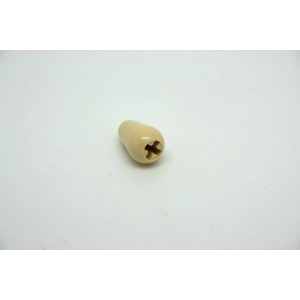 CREAM KNOB CAP TIP STYLE FOR FENDER STRATOCASTER - FIT CRL OR OAK GRIGSBY USA