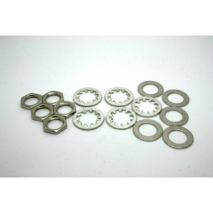 5x LOCKWASHER WASHERS AND NUTS FOR AMERICAN JACKS AND POTENTIOMETERS
